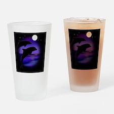 Dolphins bg Drinking Glass