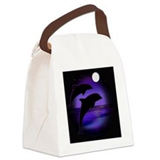 Dolphins bg Canvas Lunch Bag