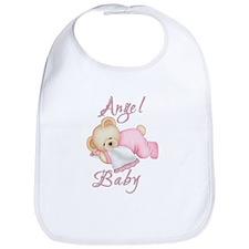 Angel Baby Bib in pink