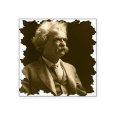 "Twain1906_portraitseated_br Square Sticker 3"" x 3"""