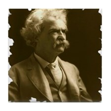 Twain1906_portraitseated_bradley1242x Tile Coaster
