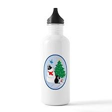Snow friends-oval Water Bottle