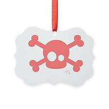 Cute Pink Skull Ornament