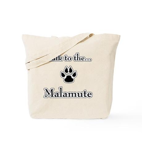 Malamute Talk Tote Bag