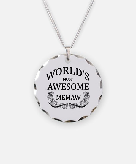 World's Most Awesome Memaw Necklace