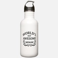 World's Most Awesome Memaw Water Bottle
