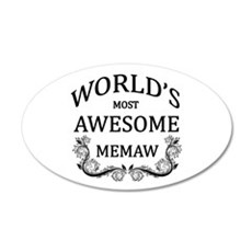 World's Most Awesome Memaw Wall Decal