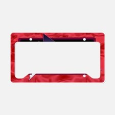Canvas rectangular pillow red License Plate Holder