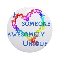 Love Awesomely Unique Round Ornament