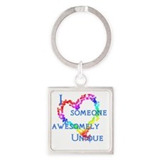 Love Awesomely Unique Square Keychain