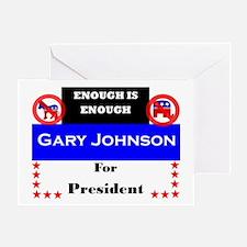 Gary Johnson for President Greeting Card