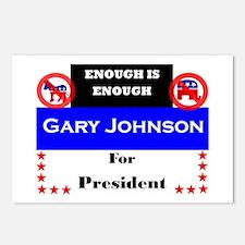 Gary Johnson for Presiden Postcards (Package of 8)