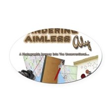 WanderingAimlessAly.com Oval Car Magnet