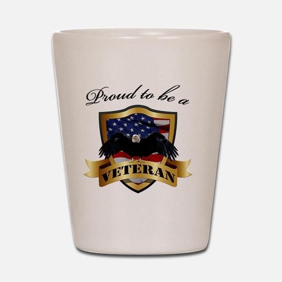 Proud to be a Veteran Shot Glass