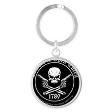 Open Carry & Concealed Carry Logo Round Keychain