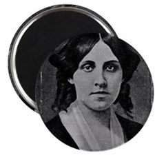 Louisa May Alcott with messed edge Magnet