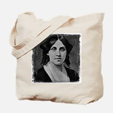 Louisa May Alcott with messed edge Tote Bag