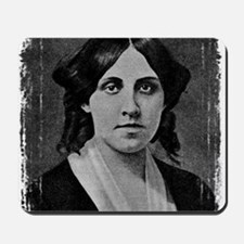 Louisa May Alcott with messed edge Mousepad