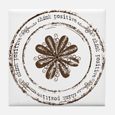 think positive Tile Coaster
