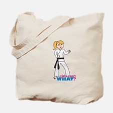 Martial Arts Girl - Ponytail Tote Bag