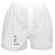 Martial Arts Girl - Ponytail Boxer Shorts