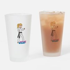 Martial Arts Girl - Ponytail Drinking Glass