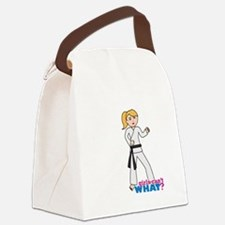 Martial Arts Girl - Ponytail Canvas Lunch Bag