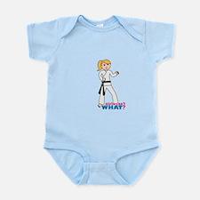 Martial Arts Girl - Ponytail Infant Bodysuit