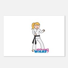 Martial Arts Girl - Ponytail Postcards (Package of