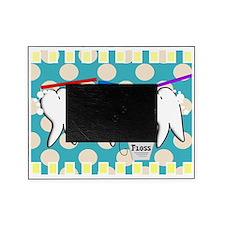 hygienist blanket blue polka dots Picture Frame