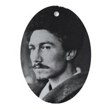 Ezra Pound Oval Ornament