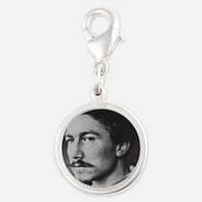 Ezra Pound Silver Round Charm