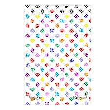 PawprintsFliFlops Postcards (Package of 8)