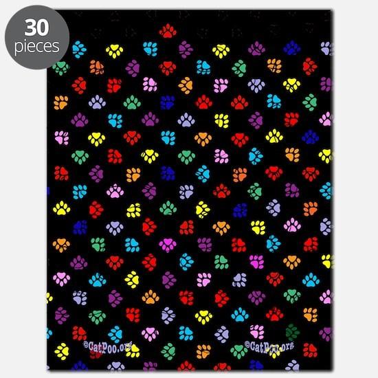 PawPrintRBblackFlipFlops-a Puzzle