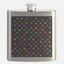 PawPrintRBblackFlipFlops-a Flask