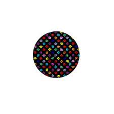 PawPrintRBblackFlipFlops-a Mini Button