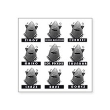 """Invasion of the Neptune Men Square Sticker 3"""" x 3"""""""