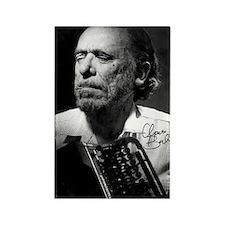 Charles Bukowski Rectangle Magnet