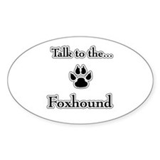 American Foxhound Talk Oval Decal