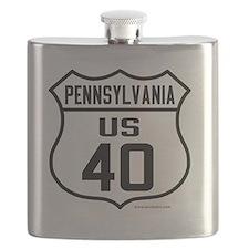 US Route 40 - Pennsylvania Flask