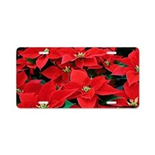 PoinsettiaShoulderbag-a Aluminum License Plate