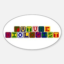 Future Biologist Oval Decal