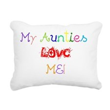 My Aunties Love Me Rectangular Canvas Pillow