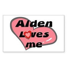 alden loves me Rectangle Decal