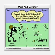 Max and Beyond U.S. Army Ants Cartoon Tile Coaster