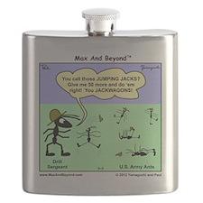 Max and Beyond U.S. Army Ants Cartoon Flask
