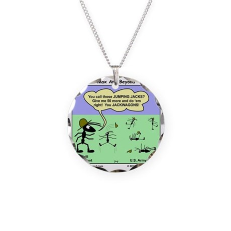 Max and Beyond U.S. Army Ant Necklace Circle Charm