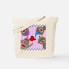 sock monkey blanket 3 Tote Bag