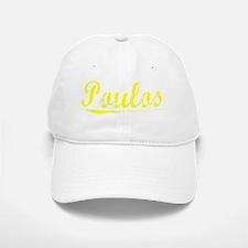 Poulos, Yellow Baseball Baseball Cap