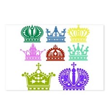 Colored Crown Silhouette Collection Postcards (Pac